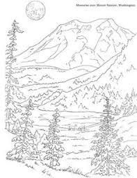 mountain scenery coloring pages coloring pages