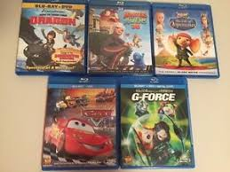 lot 5 kids blu ray dvd cars force monsters aliens
