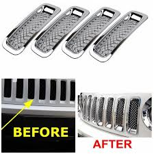 silver jeep patriot 2007 chrome grille overlay for 2011 2012 2013 2014 2015 jeep patriot 7