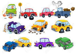 car toy clipart car accidents set on white royalty free cliparts vectors and