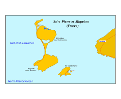 map of st and miquelon maps of and miquelon detailed map of