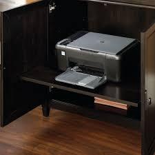 Hidden Laptop Desk by Edge Water Smartcenter Secretary Computer Cabinet U2013 Estate Black