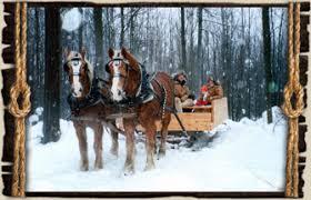 winter activities sleigh rides fruit ridge hayrides kent city mi
