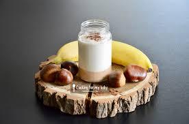 cuisine bebe 18 mois recette de shake banane et crème de marron au cacao pour bébé