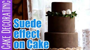 how to create a suede effect on a fondant cake youtube