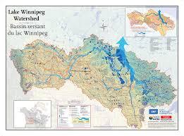 winnipeg map lake winnipeg watershed tiled map canadian geographic
