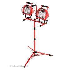 hdx portable halogen work light southwire 1200 watt halogen tripod work light l19 the home depot