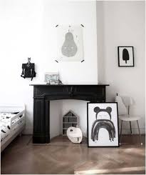 skandinavische wohnideen deko kamin kinderzimmer wohnideen schwarz weiss minimalistisch