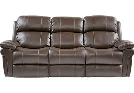 sofa bed recliner 1 499 99 trevino chocolate leather power reclining sofa