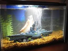 battleship aquarium ornament fish tank decoration beautiful boat