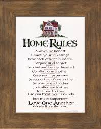 Religious Wall Decor Home Rules Christian Wall Decor Lordsart