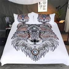 Wolf Bedding Set Tribal Wolf Bedding Set Wolvestuff