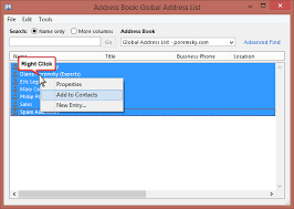 how to create an outlook address book in 2013 copy gal addresses to outlook and make the gal portable