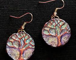 paper mache earrings paper mache jewelry etsy