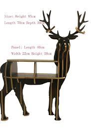 household furniture creative deer desk coffee table wooden home furniture livingroom