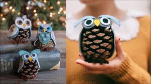 10 Diy Christmas Pine Cone Crafts Youtube