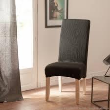 housses de chaises extensibles housse de chaise uni bi extensible coton polyester comptoir des