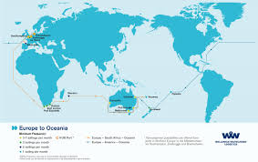 Map Of Oceania Overseas Shipping Route Maps L Wallenius Wilhelmsen Logistics