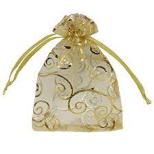 gold favor bags ankirol 100pcs sheer organza favor bags for wedding