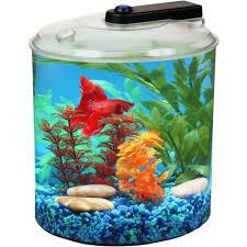 Fish Home Decor Accents Hawkeye 1 2 Gallon Fish Bowl Drum Shaped Shatterproof Plastic