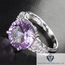 purple diamond engagement rings large cut amethyst antique band cluster diamond pave