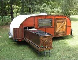 Travel Trailer With Garage Teardrop Trailer With Pull Out Kitchen Imagine This With Locking