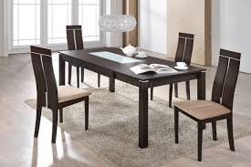 Walnut Dining Room Chairs D6948dt Dining Set 5pc In Dark Walnut W D2403dc Chairs By Global