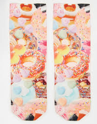 monki candy print socks in white lyst