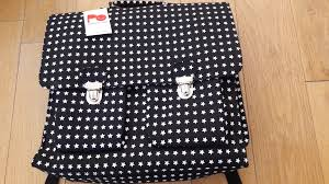 bakker made with love cartable sac à dos cartable pakhuis oost noir à pois blanc 6439609