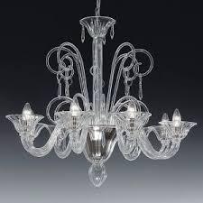 Italian Chandeliers Style Clear Glass Italian Chandelier With 8 Arm