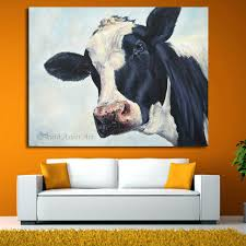 Cow Home Decor Home Decor Wall Cow Painting Cow Molly Moo Low Painting