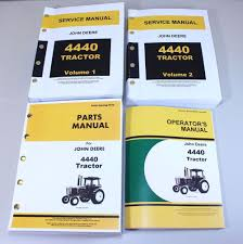 set john deere 4440 tractor service parts owner manual technical
