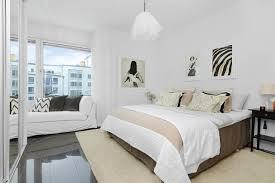 chambre contemporaine blanche design interieur chambre coucher moderne blanc beige suspension