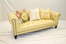 Yellow Leather Sofa Cream Leather Chesterfield Sofa Okaycreations Net