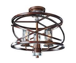 3 light flush mount ceiling light fixtures eternity 3 light semi flush kalco