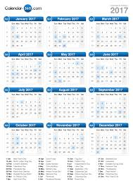2017 calendar with holidays usa monthly calendar template