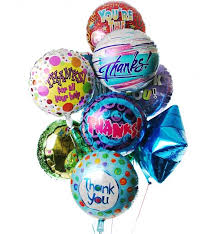 mylar balloon bouquet thank you balloon bouquet 12 mylar balloons make their