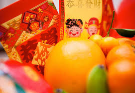 New Year Fruit Decorations by Chinese New Year Decorations And Flowers For Good Luck And