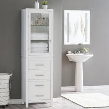 bathroom modern white bathroom storage tower for towel with glass