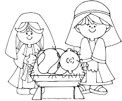 baby jesus in manger coloring page glum me