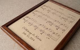 3rd wedding anniversary gift leather engraved sheet personalized framed notes 3rd