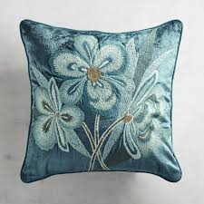 Peacock Pillow Pier One by Embroidered Floral Velvet Pillow Pier 1 Imports