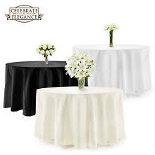 Wedding Linens Round Wedding Tablecloths Ebay