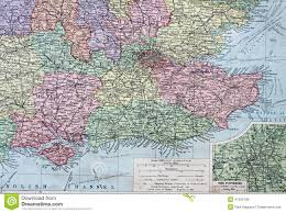 Map Of England by Old 1945 Map Of The South East Of England Stock Illustration