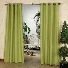 Green And White Curtains Decor Gazebo Solid Color Indoor Outdoor Curtain Panels