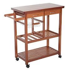 kitchen island microwave cart homcom wooden rolling storage microwave cart kitchen