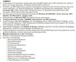resume summary of qualification exles summary exle resume summary of qualifications exle