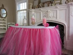 Pink Table Skirt by Custom Tulle Tutu Table Skirt Pinks By Pinksugartutus On Etsy