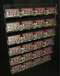 Business Card Racks 24 Pocket Business Card Holder Clear Acrilyc Horizontal Wall Mount