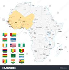Africa Labeled Map by West Africa Map Flags Stock Vector 315677957 Shutterstock
